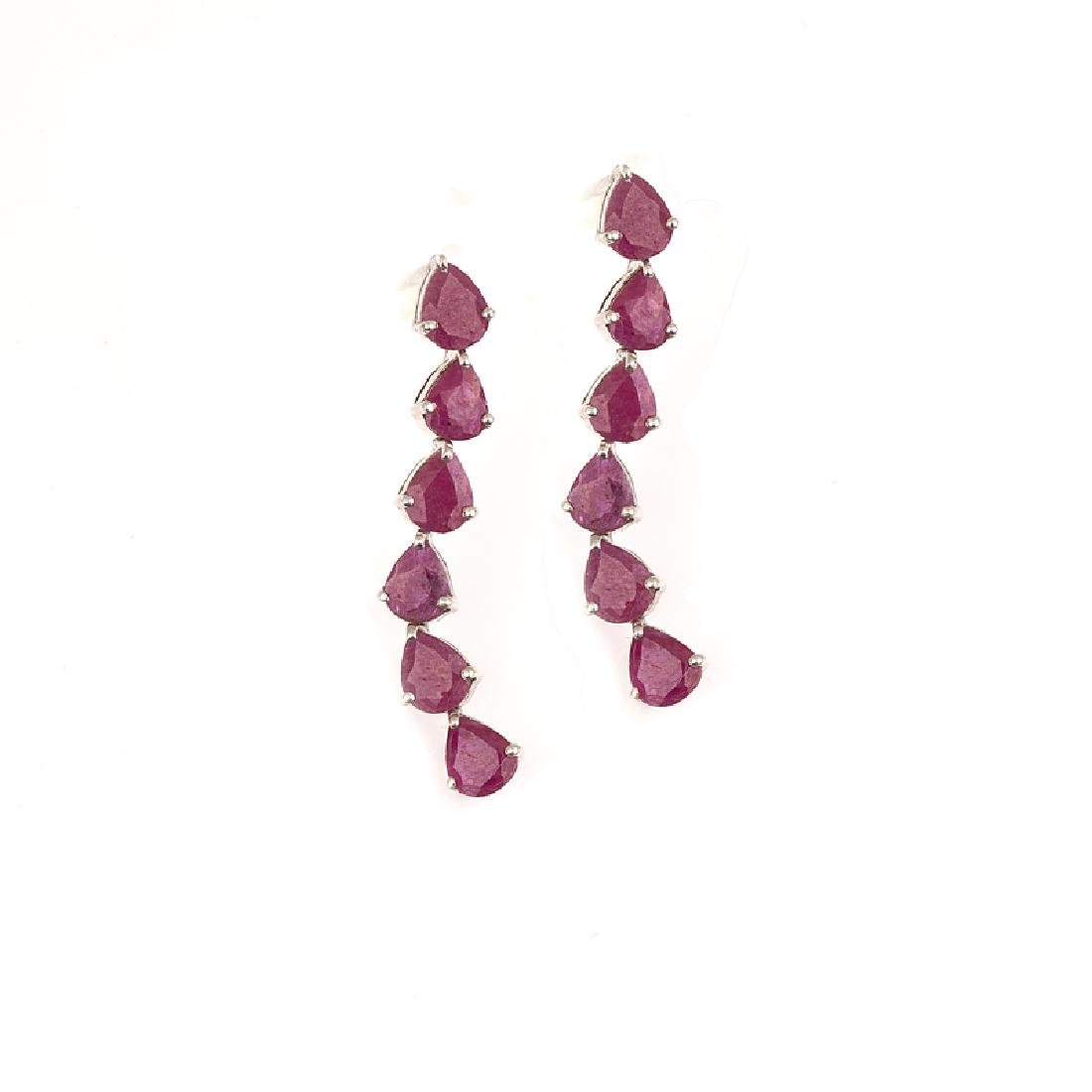 APP: 2k Fine Jewelry 6.62CT Pear Cut Ruby And Platinum