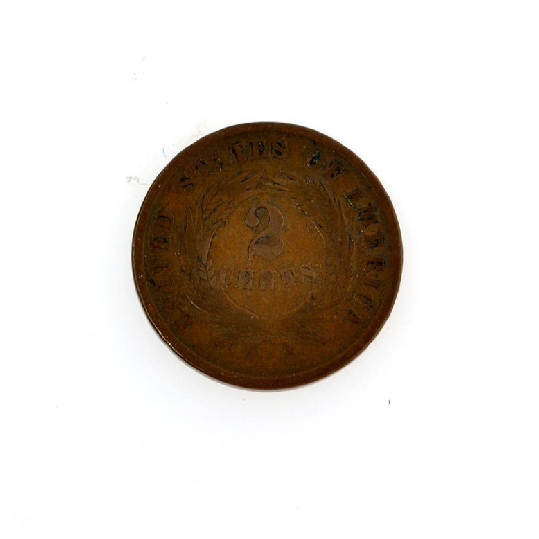 1864 Two Cents Coin - 2