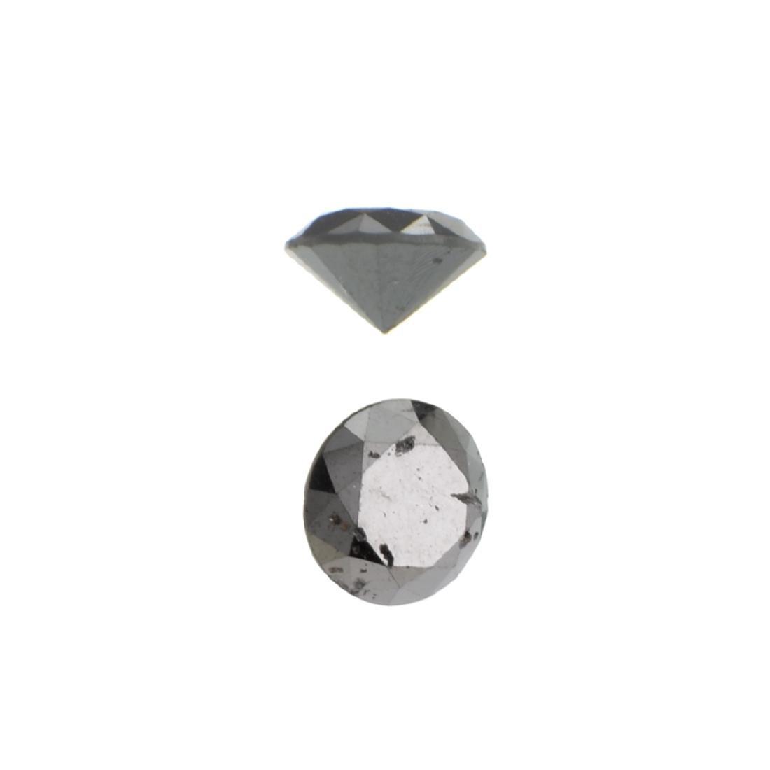 APP: 0.7k 0.93CT Round Cut Black Diamond Gemstone