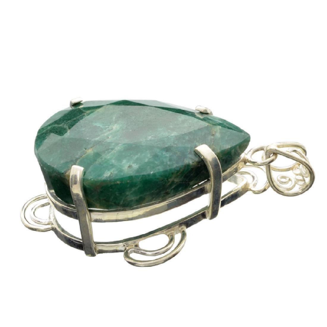 APP: 10.3k Designer Sebastian 232.33CT Pear Cut Emerald