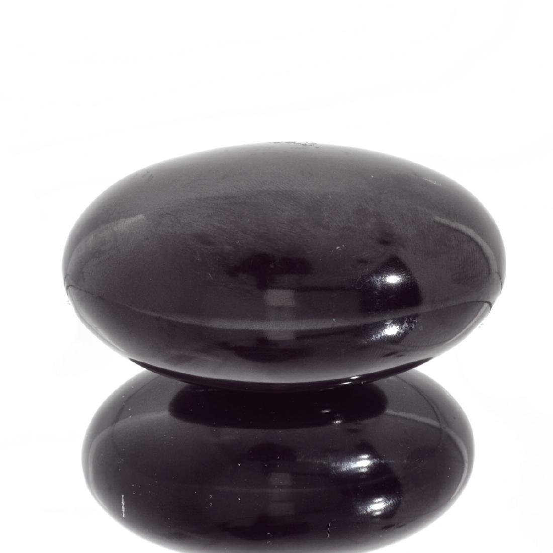 APP: 1.8k Rare 1,395.00CT Oval Cut Black Agate Gemstone