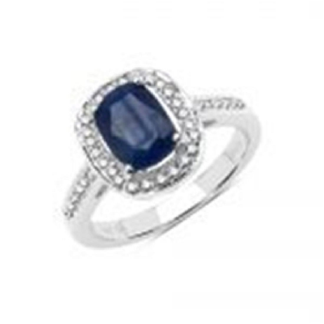 APP: 3.5k 14KT White Gold, 1.90CT Oval Cut Sapphire &