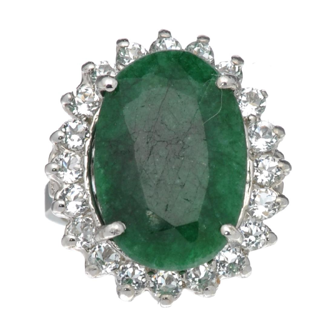 APP: 2k Fine Jewelry Designer Sebastian, 9.98CT Green