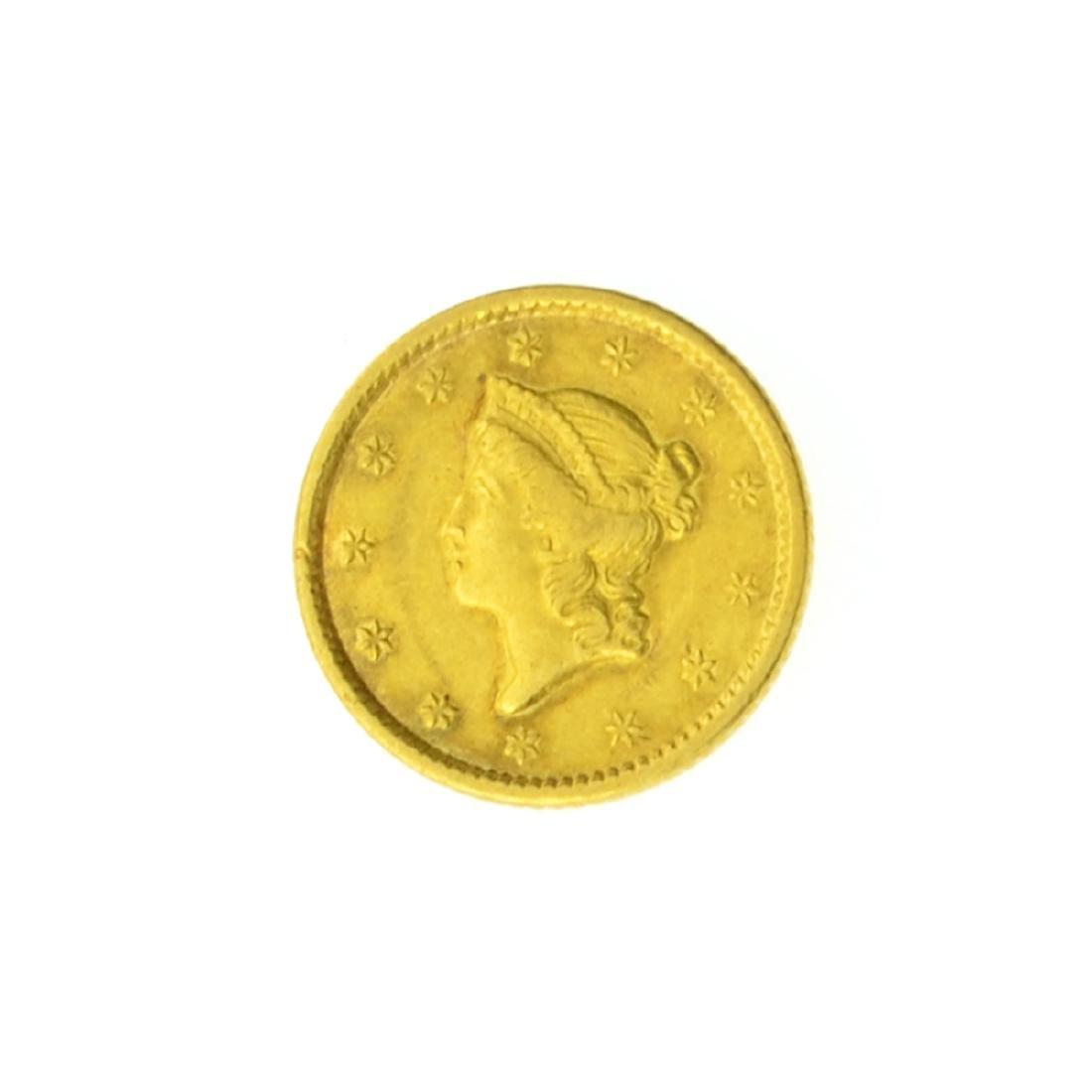 1851 $1 U.S. Liberty Head Gold Coin (JG)