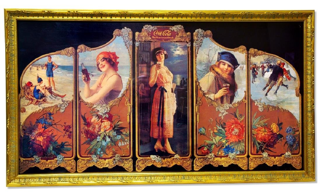 Museum Framed Coca-Coca Advertising  32x18