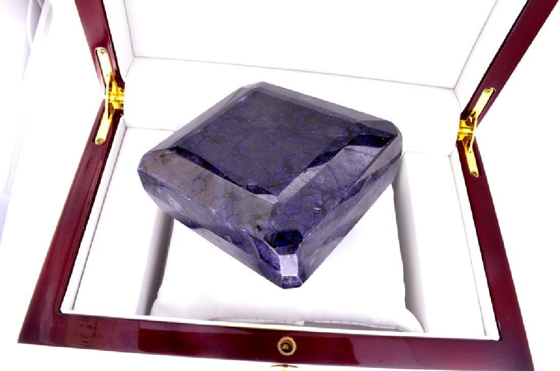 APP: 13.6k 4,392.00CT Square Emerald Cut Blue Sapphire