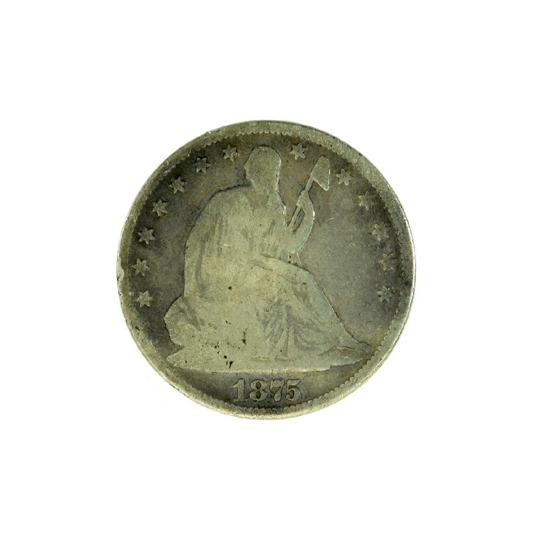 *1875 Liberty Seated Half Dollar Coin (JG)