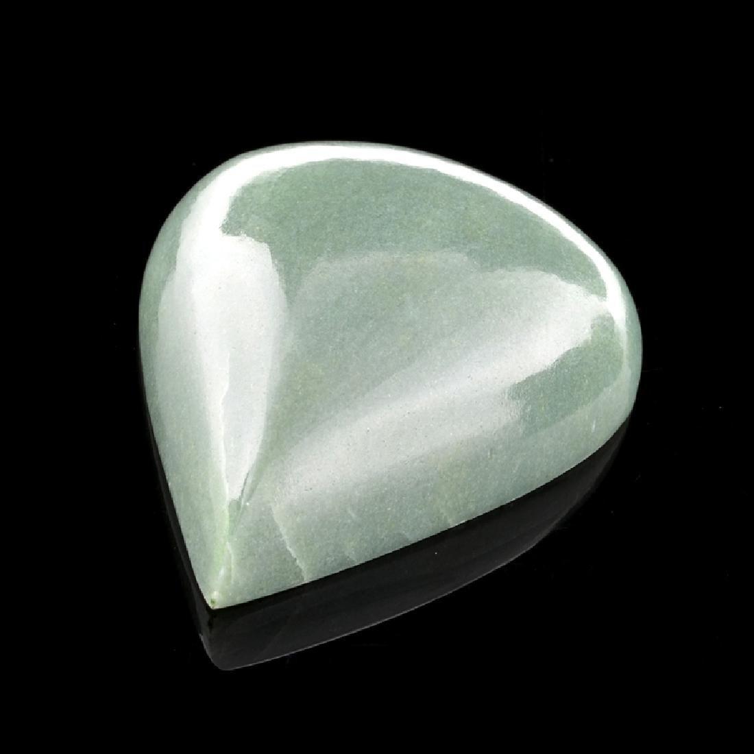 APP: 3.3k 223.00CT Pear Cut Cabochon Green Jade