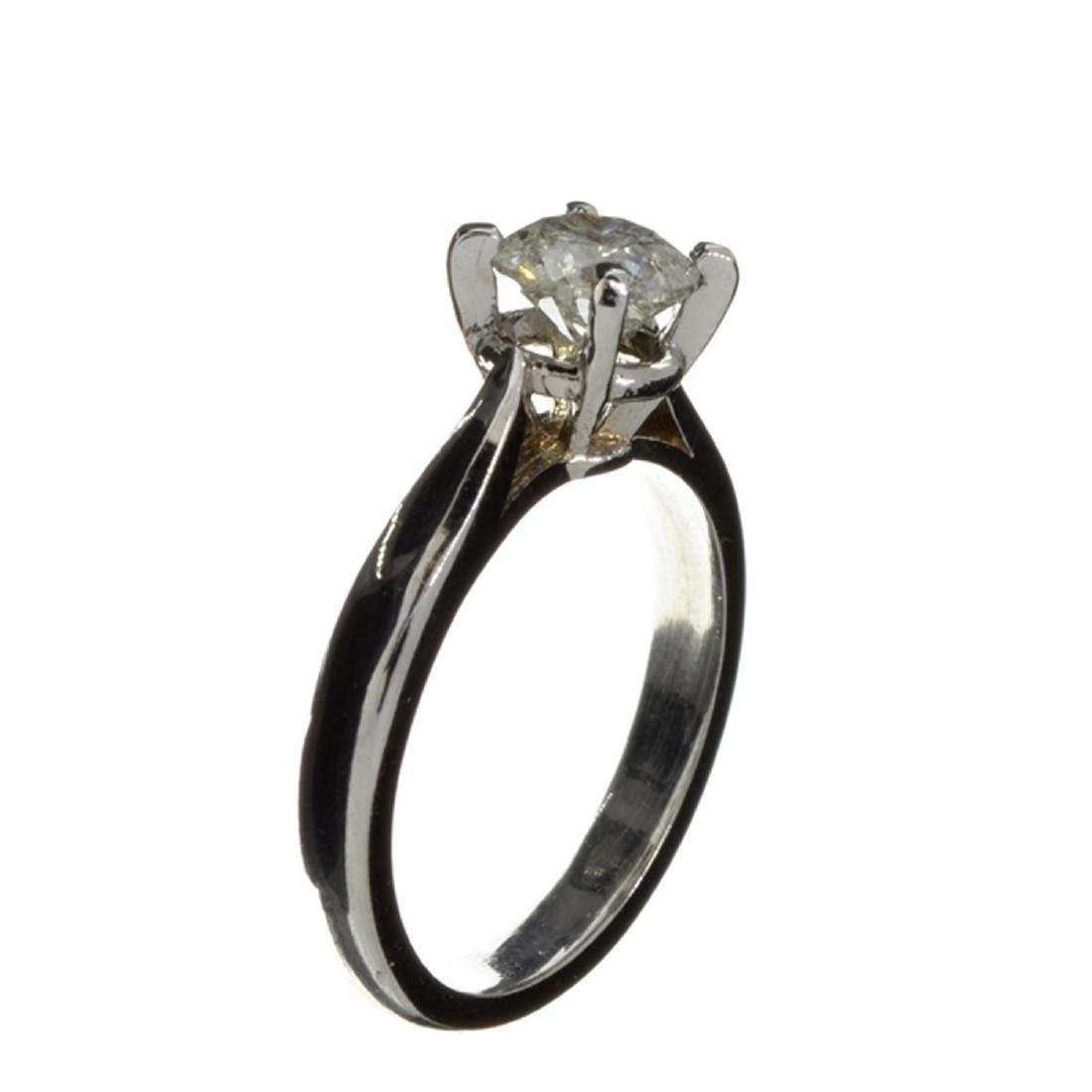 APP: 6.3k 14 kt. White Gold, 1.05CT Round Cut Diamond