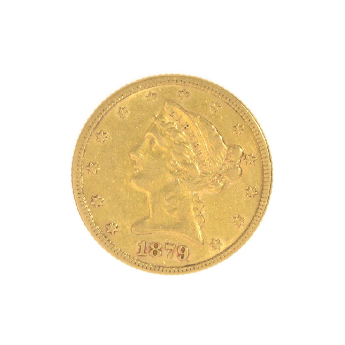 1879 $5 U.S. Liberty Head Gold Coin