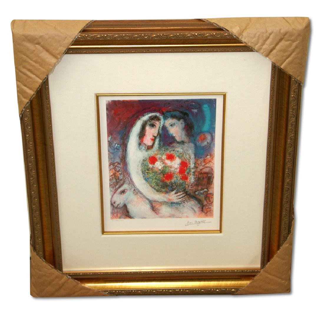 Chagall (After) 'Marriage' Museum Framed Giclee-Limited