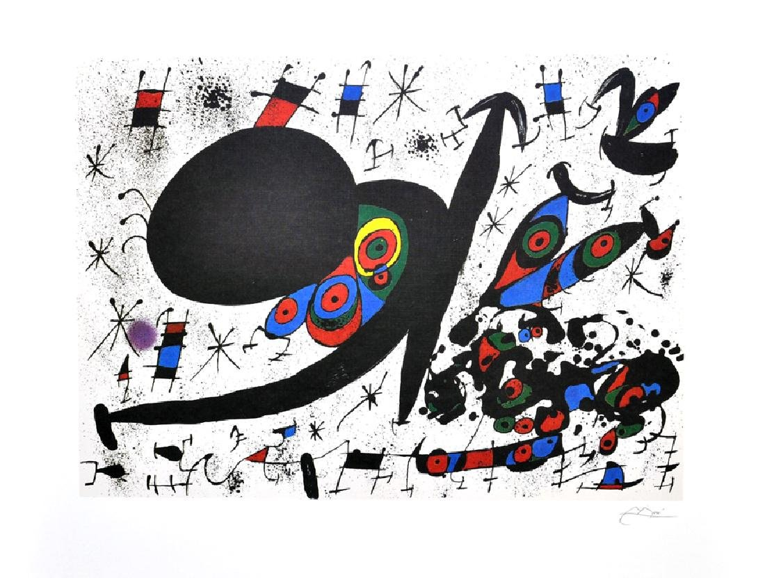 JOAN MIRO (After) Homage To Joan Pratt Print, 493 of
