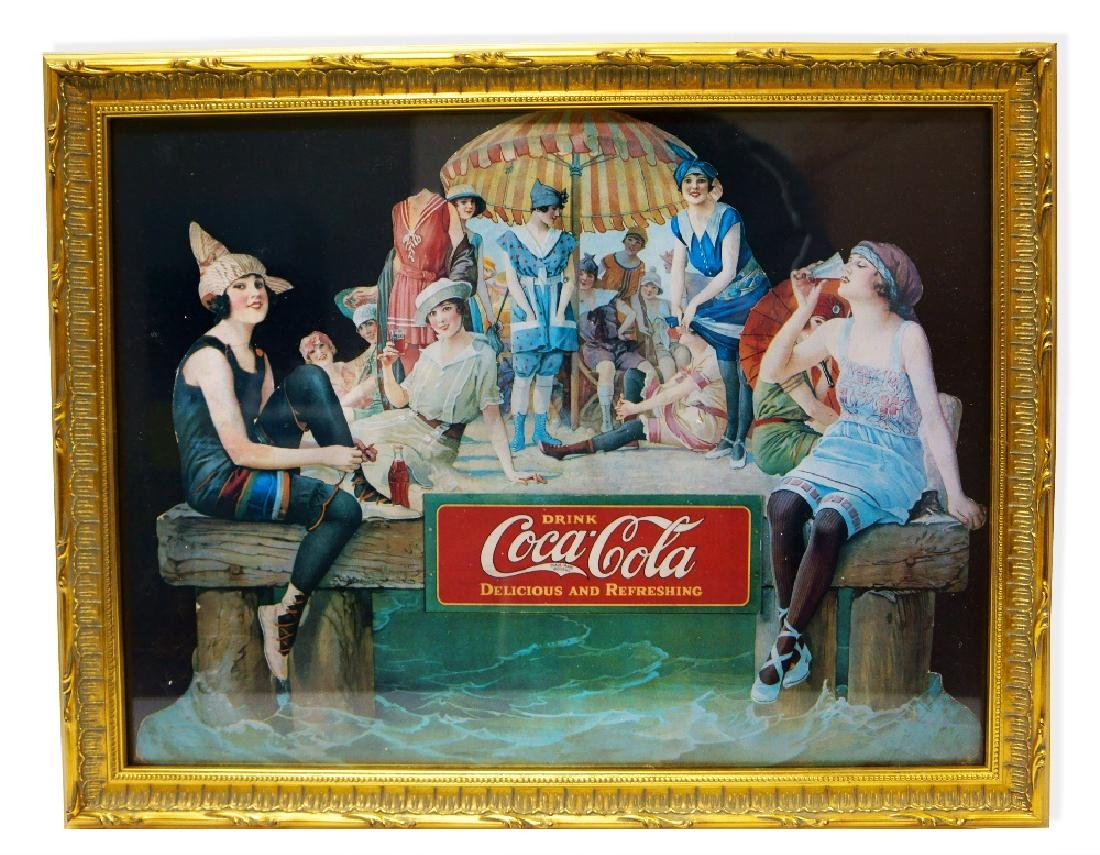 Museum Framed Coca-Coca Advertising  14.5x18.5