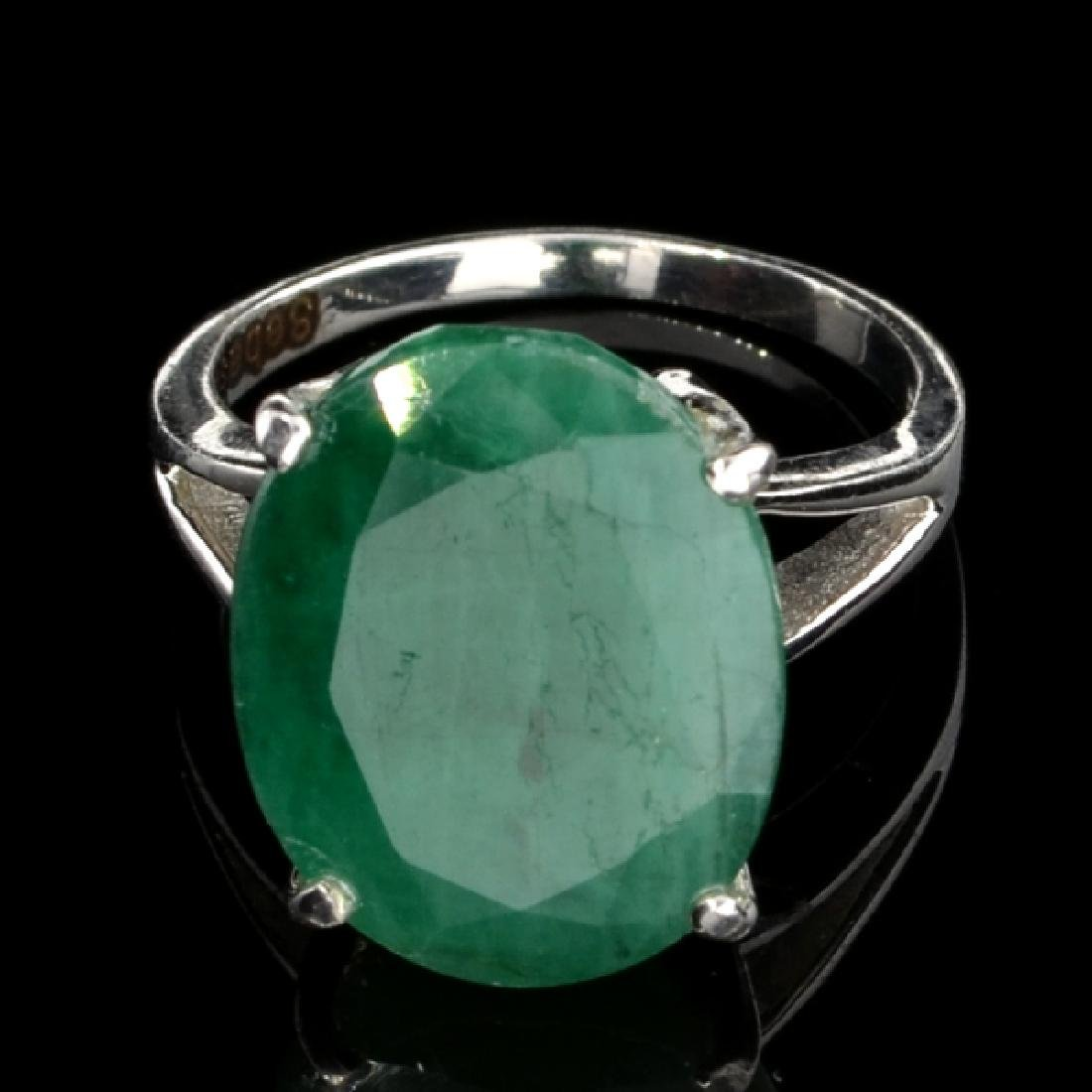 Fine Jewelry Designer Sebastian 9.10CT Oval Cut Green