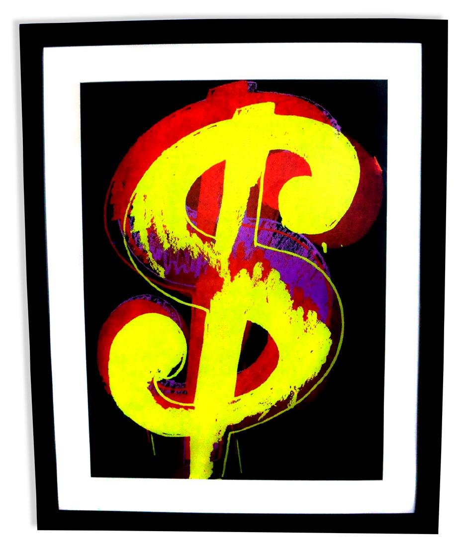 Andy Warhol (After) Museum Framed Dollar Sign Print