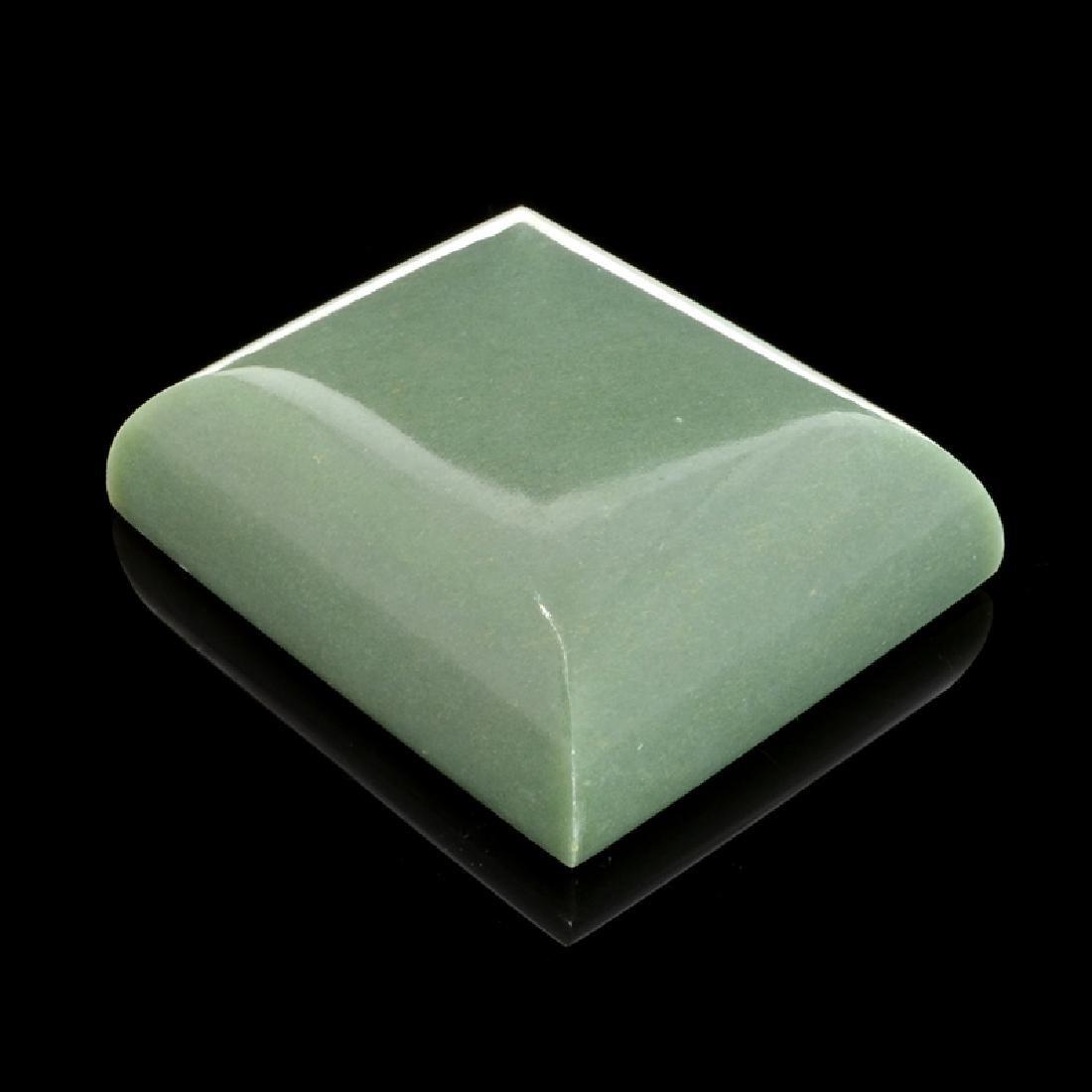 APP: 9.2k 769.50CT Rectangle Cut Green Guatemala Jade