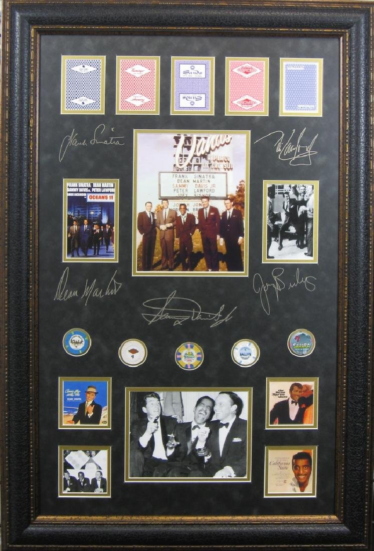 Rat Pack Chips & Casino Cards - Plate Signatures