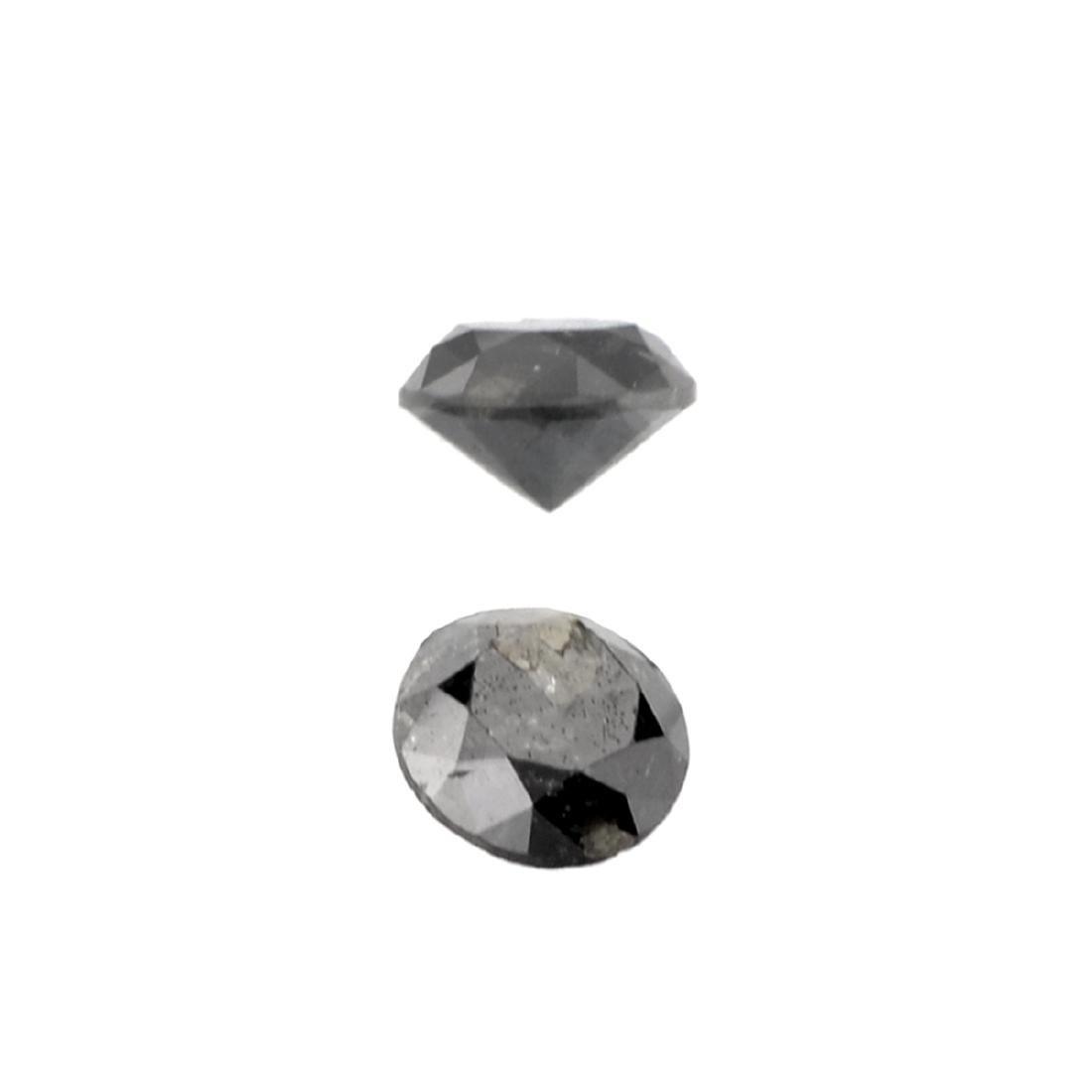 APP: 0.3k 0.37CT Round Cut Black Diamond Gemstone