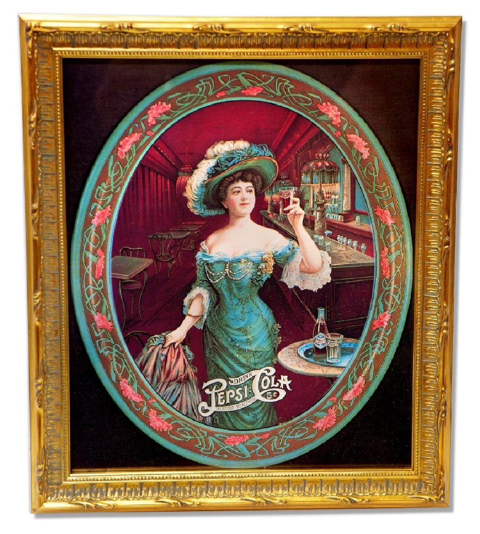 Museum Framed Pepsi Cola Advertising  14.5x12.5