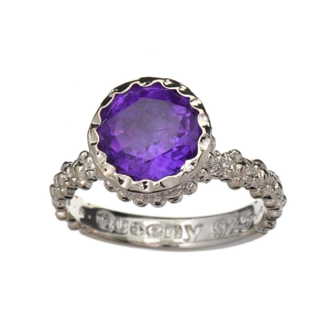 APP: 0.7k Fine Jewelry 1.50CT Round Cut Amethyst Quartz
