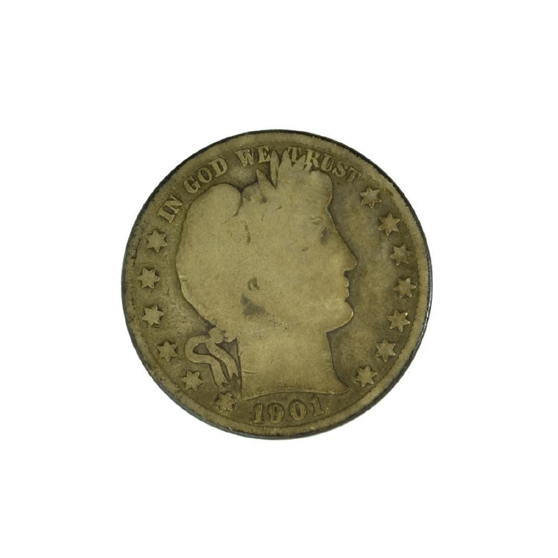 *1901 Barber Half Dollar Coin (JG)