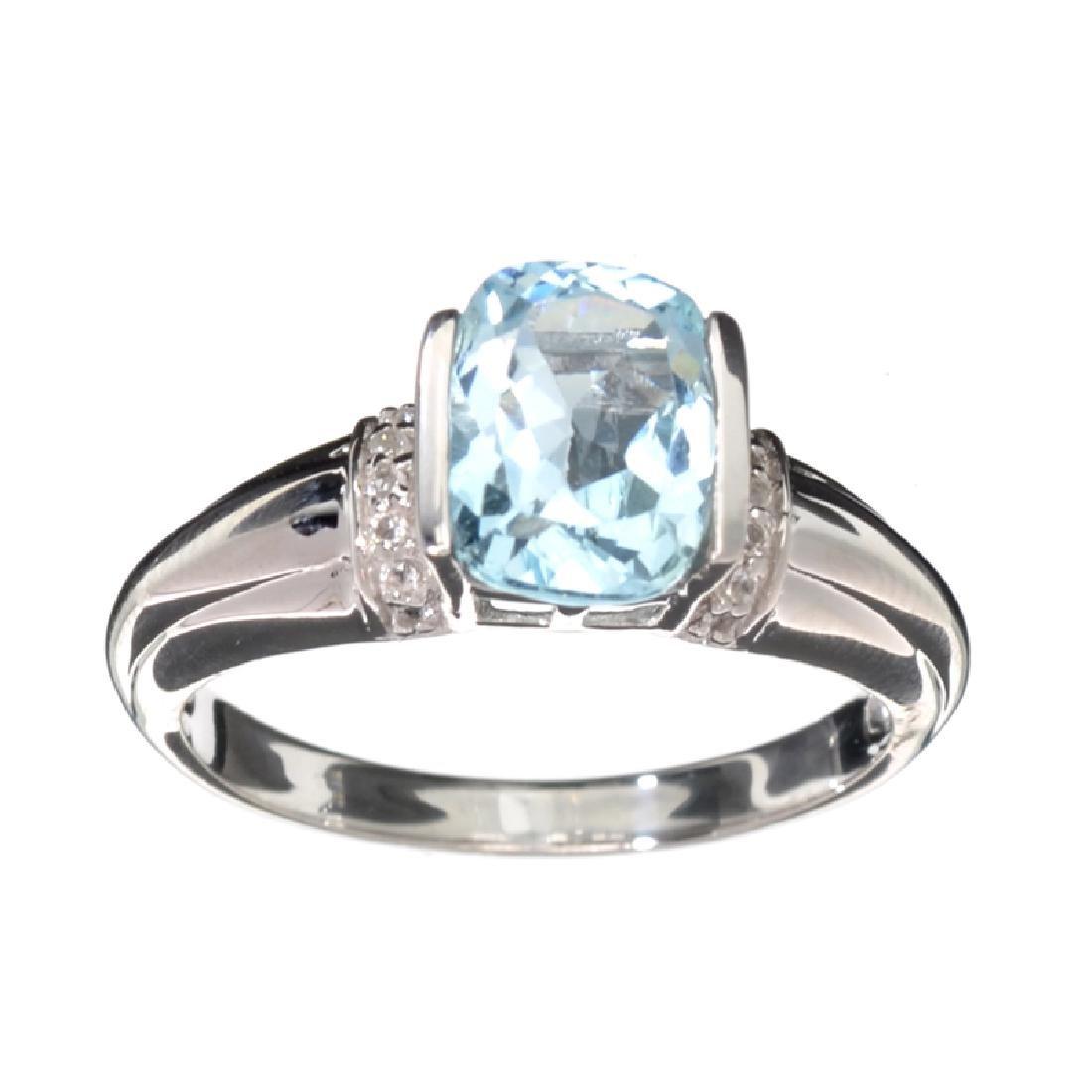 APP: 0.4k Fine Jewelry 2.53CT Blue Topaz And White