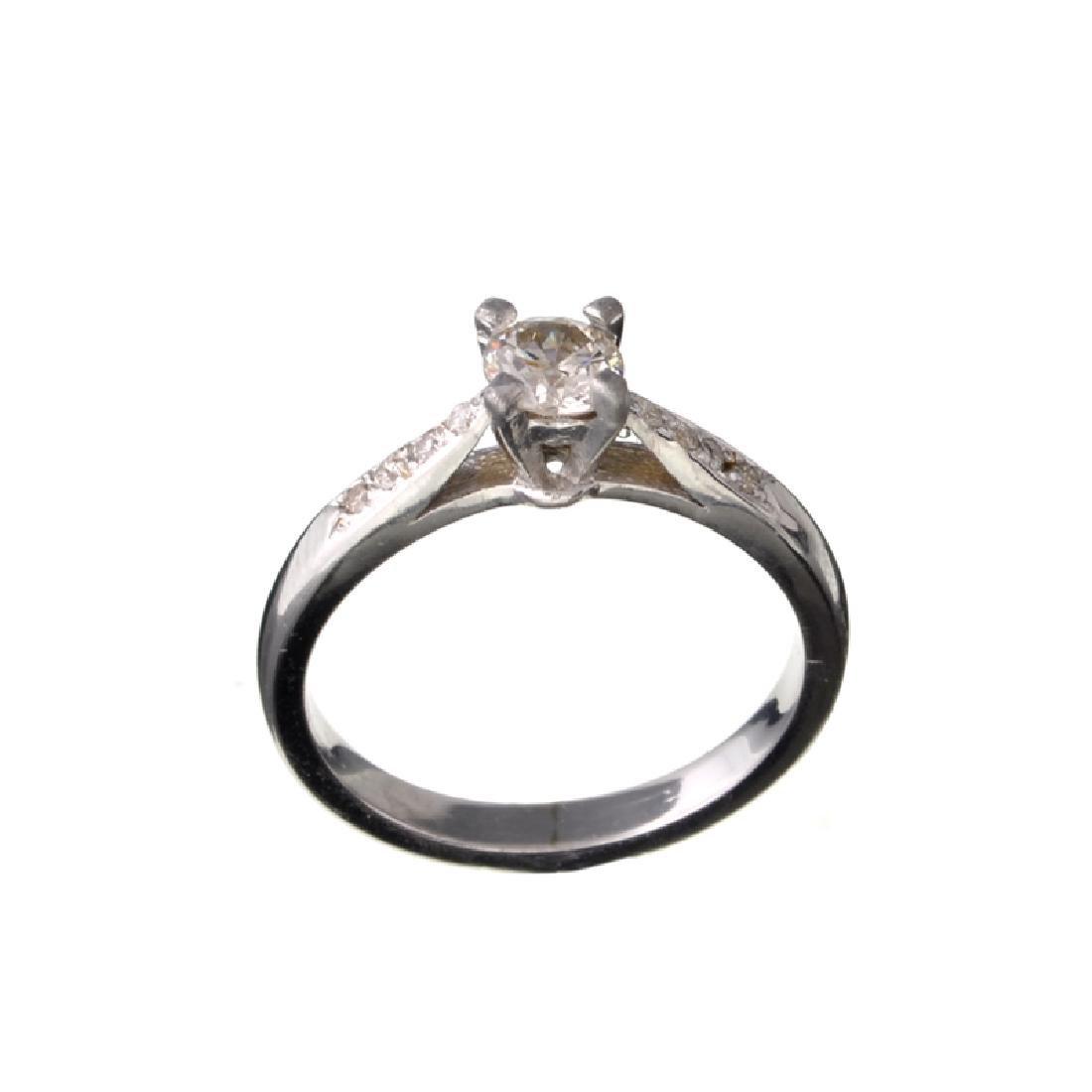 APP: 1.5k 14 kt. White Gold, 0.40CT Round Cut Diamond