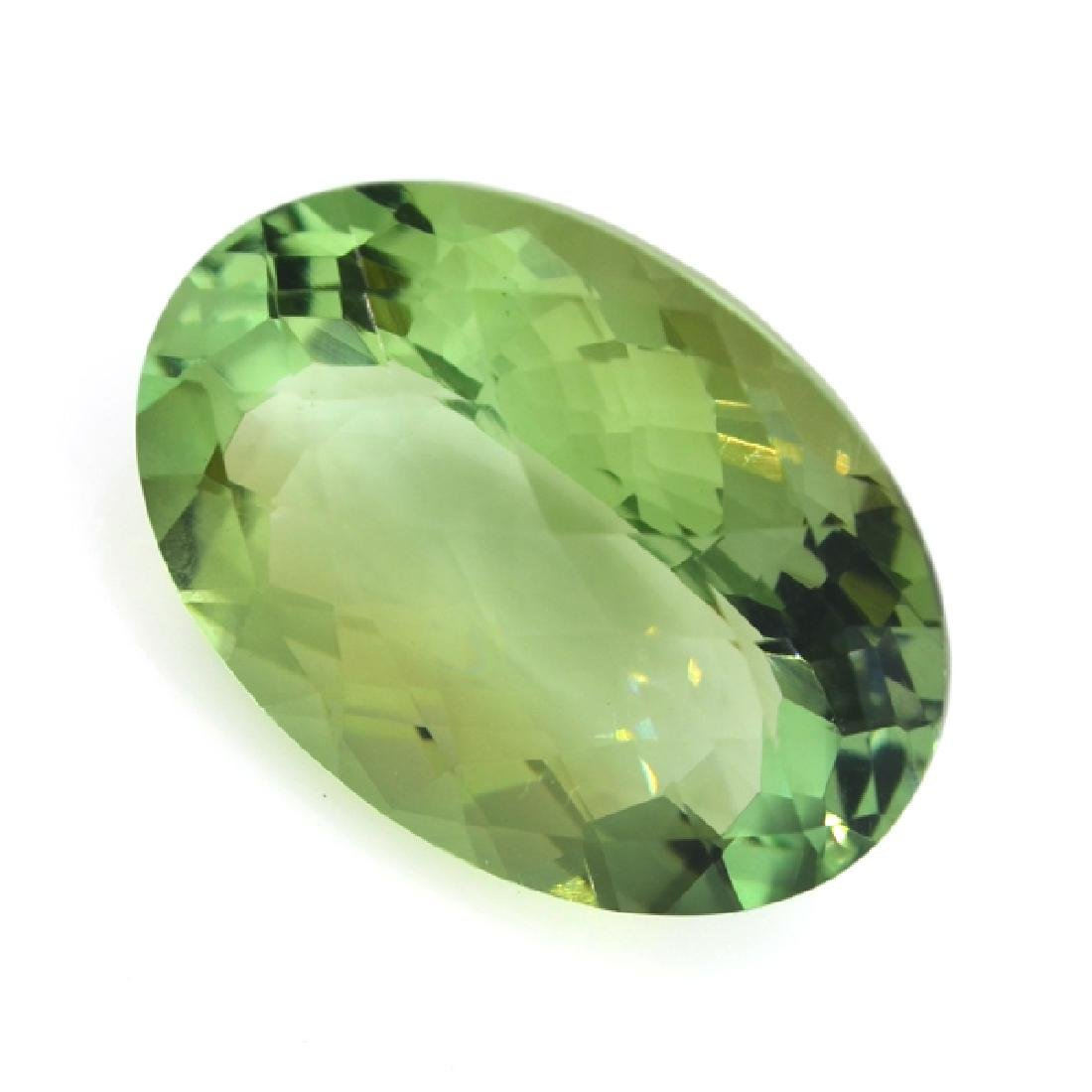 APP: 1.1k 28.07CT Oval Cut Green Quartz Gemstone