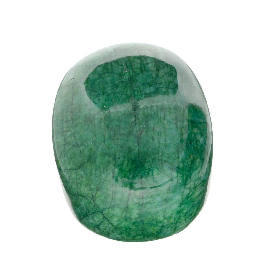 APP: 10.4k 2,618.00CT Oval Cut Cabochon Green Beryl