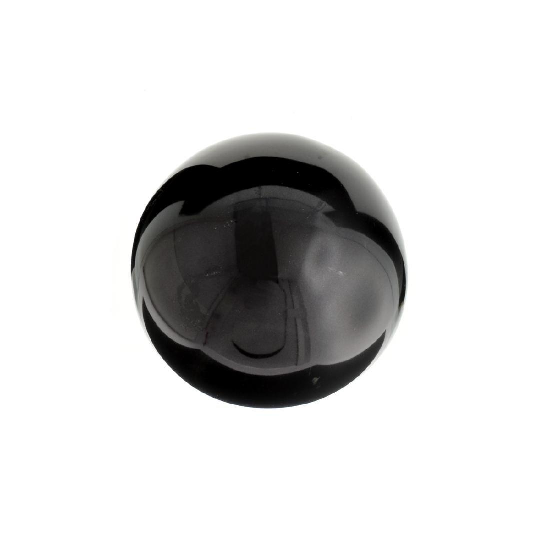 APP: 1.6k Rare 1,106.50CT Sphere Cut Black Agate