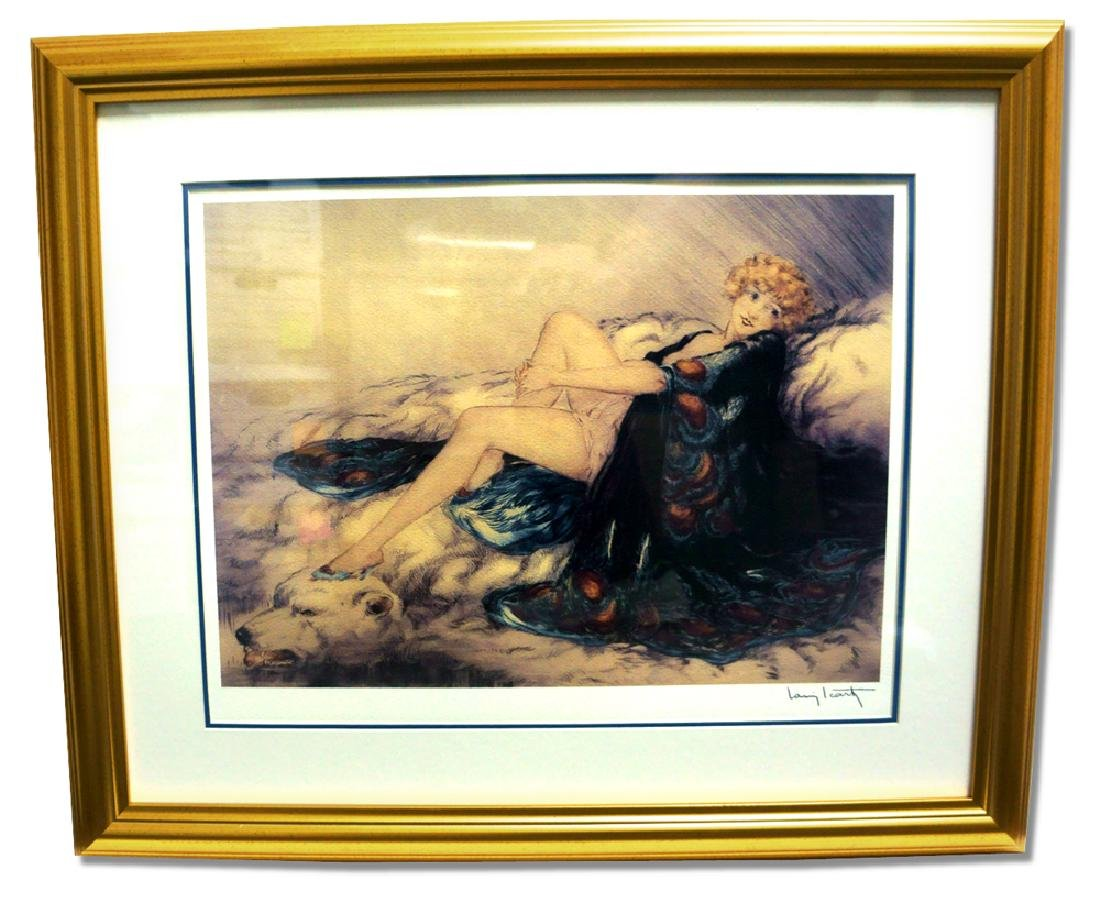 Icart (After) - Silk Robe - Museum Framed Giclée 24x28