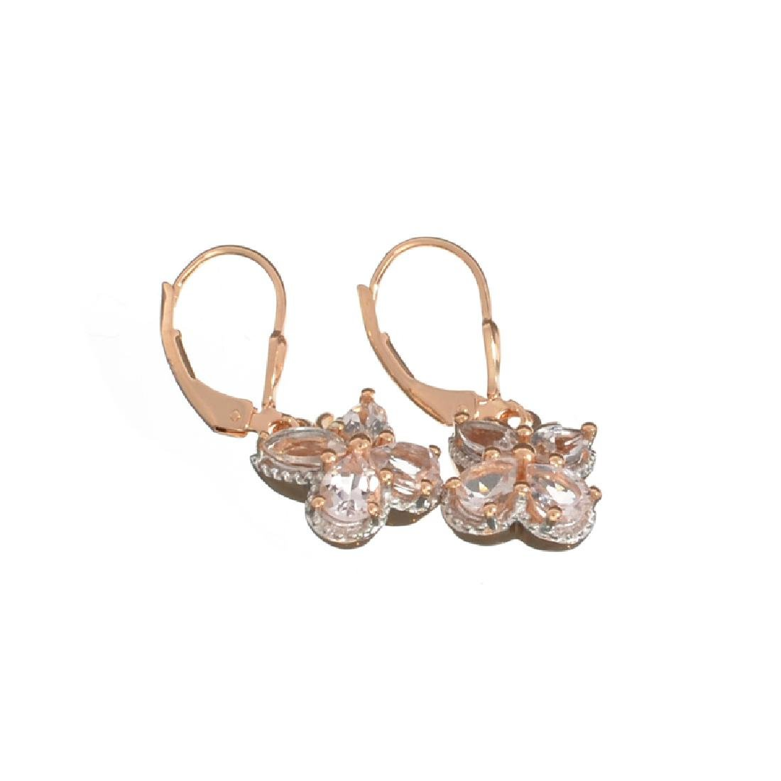 Fine Jewelry 1.88CT Oval/Matquise Cut Morganite Over