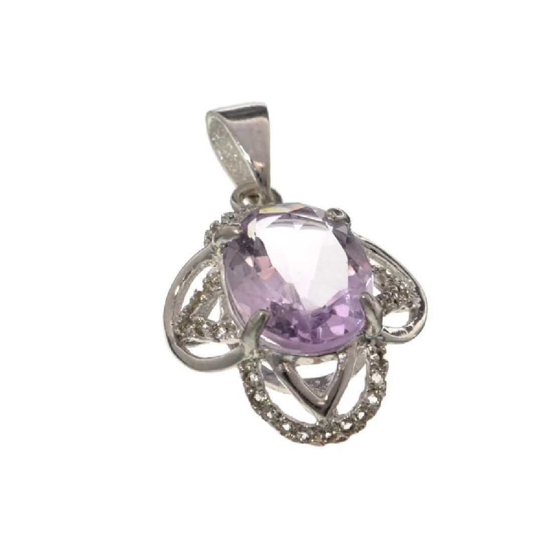 APP: 0.6k 2.50CT Purple Amethyst And White Sapphire