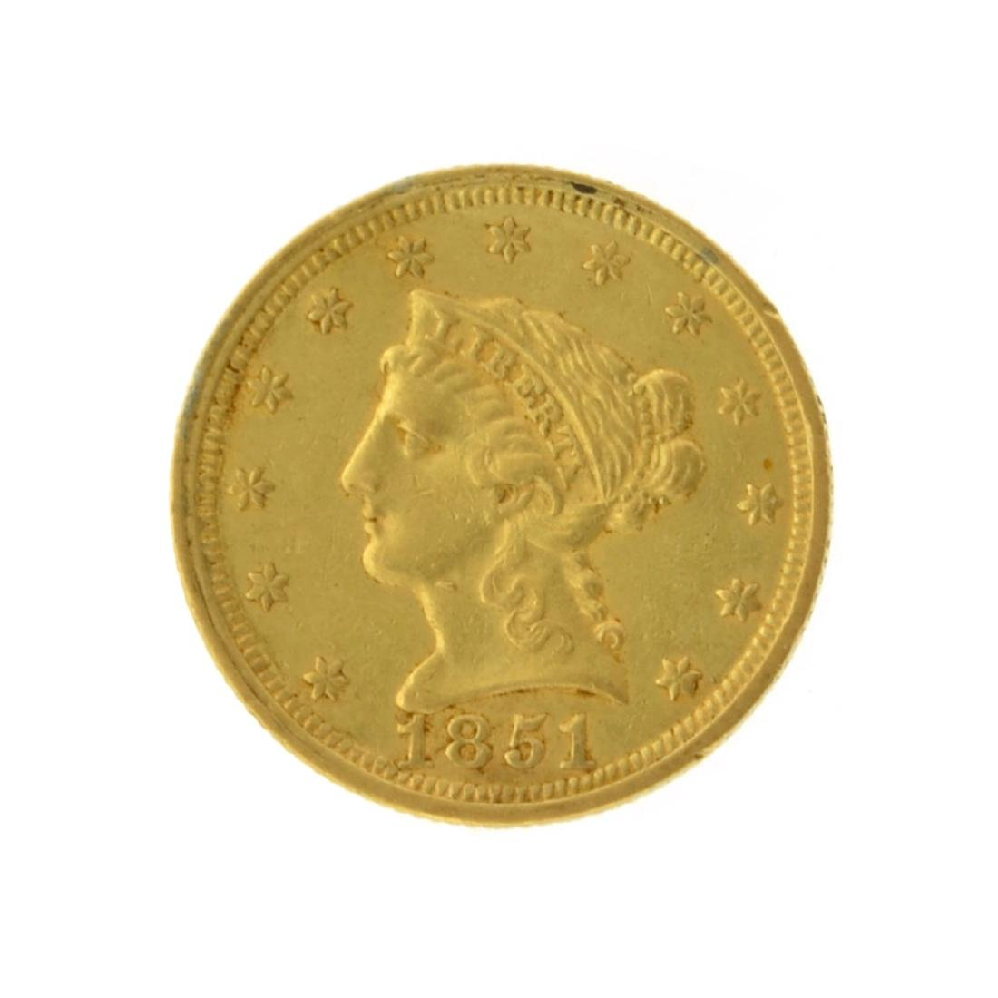 1851 $2.50 Liberty Head Gold Coin