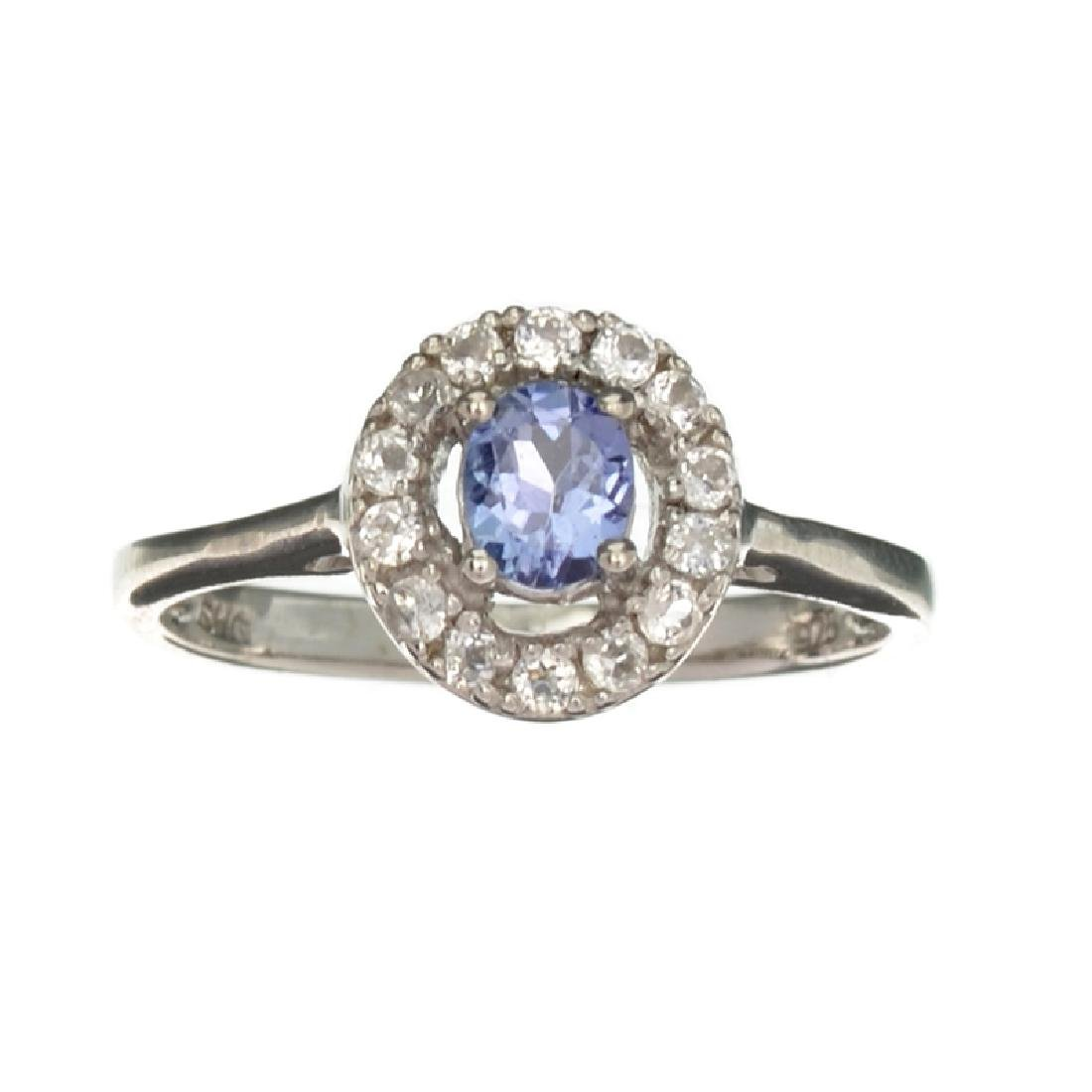 APP: 0.7k Fine Jewelry 0.55CT Tanzanite And Colorless