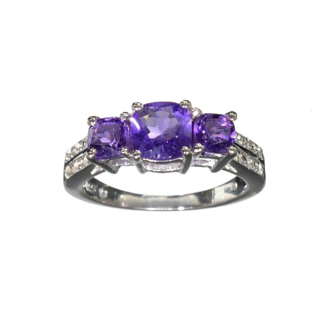 APP: 0.5k Fine Jewelry 1.54CT Purple Amethyst And White