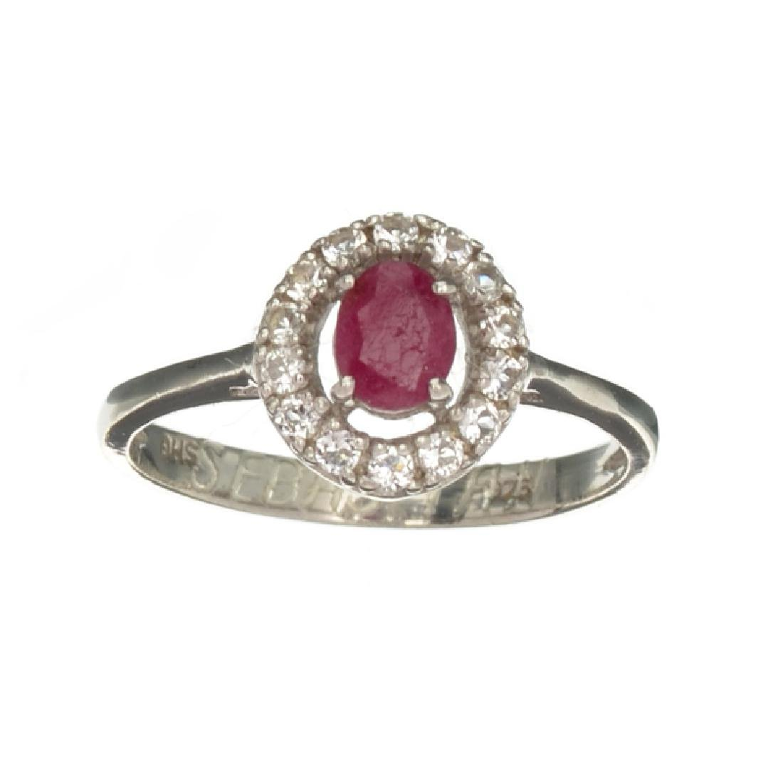 APP: 1.2k Fine Jewelry 0.50CT Ruby And Colorless Topaz