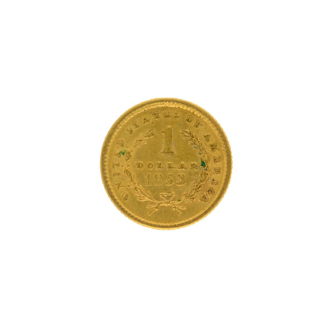 1853 $1 U.S. Liberty Head Gold Coin