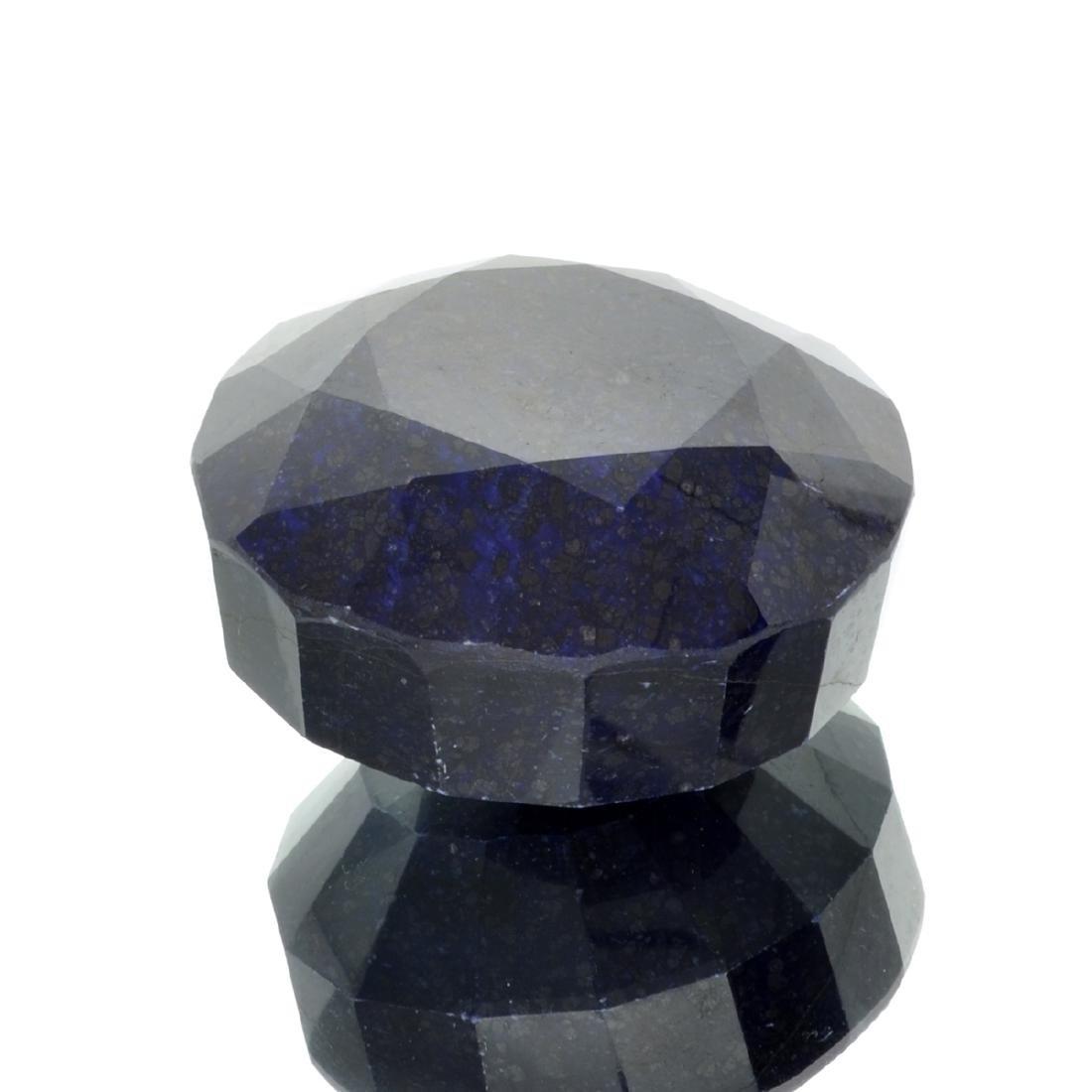 APP: 5.4k 2,140.35CT Round Cut Dark Blue Sapphire