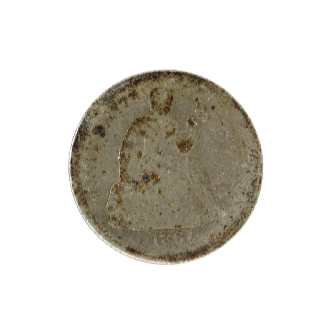 1861 Liberty Seated Dime Coin