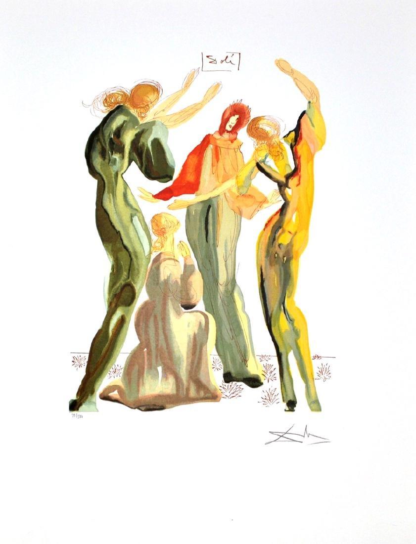 SALVADOR DALI (After) La Danse Print, 238 of 500