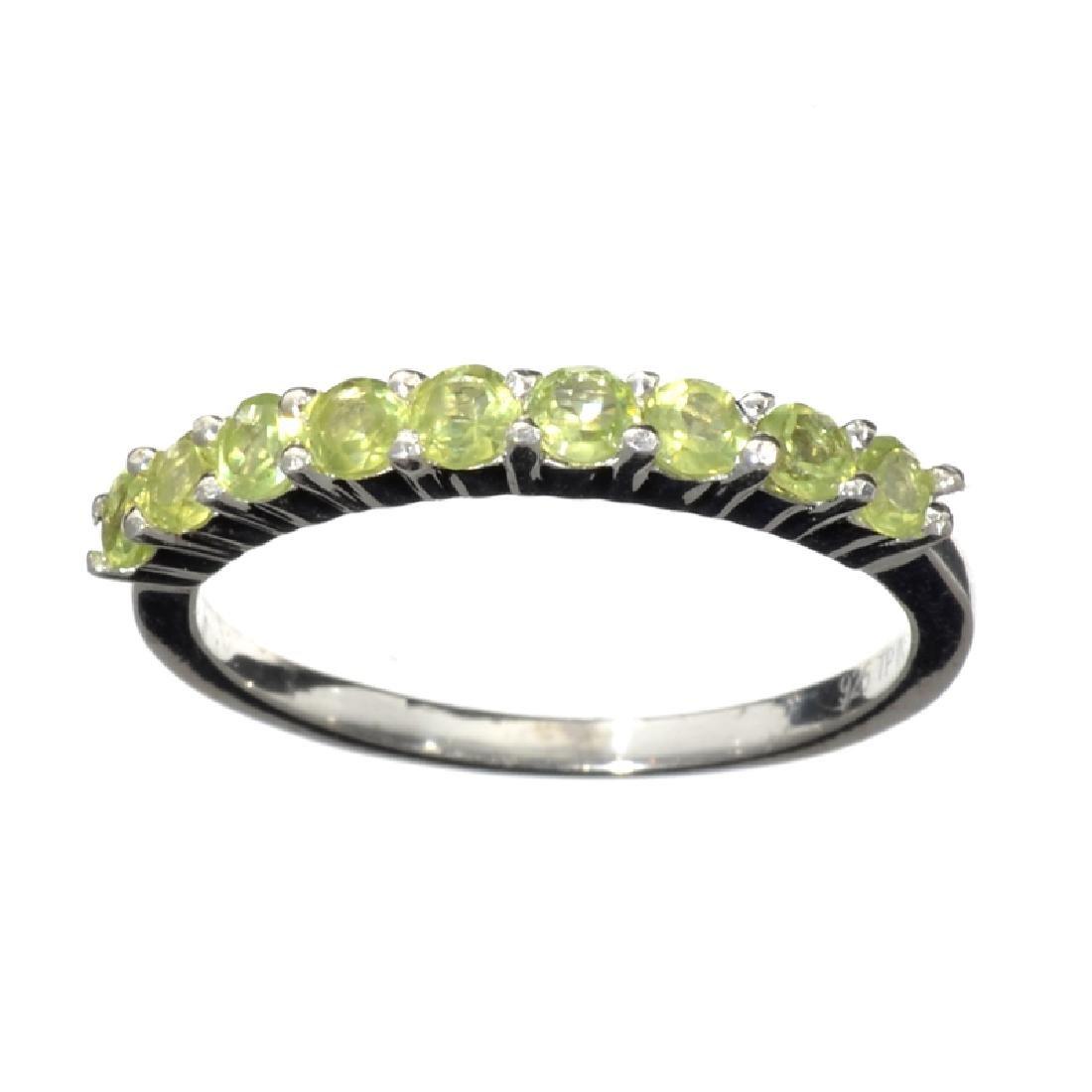 APP: 0.7k Fine Jewelry 0.85CT Round Cut Green Peridot