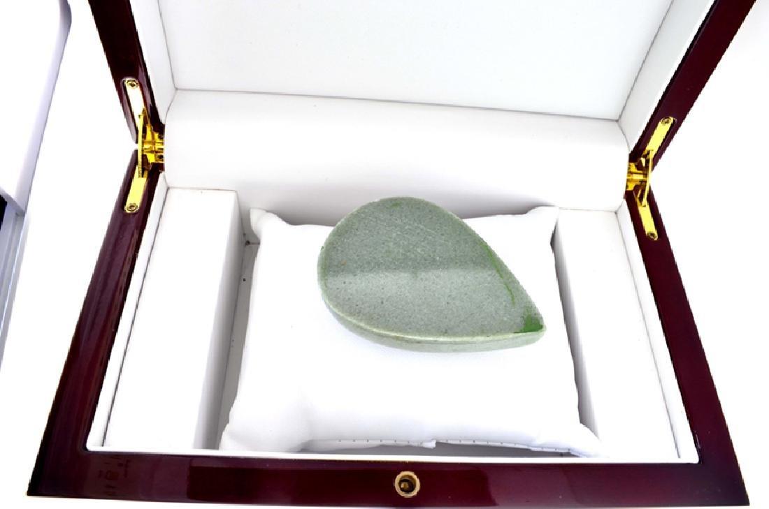 APP: 6.8k 619.00CT Pear Cut Cabochon Green Jade