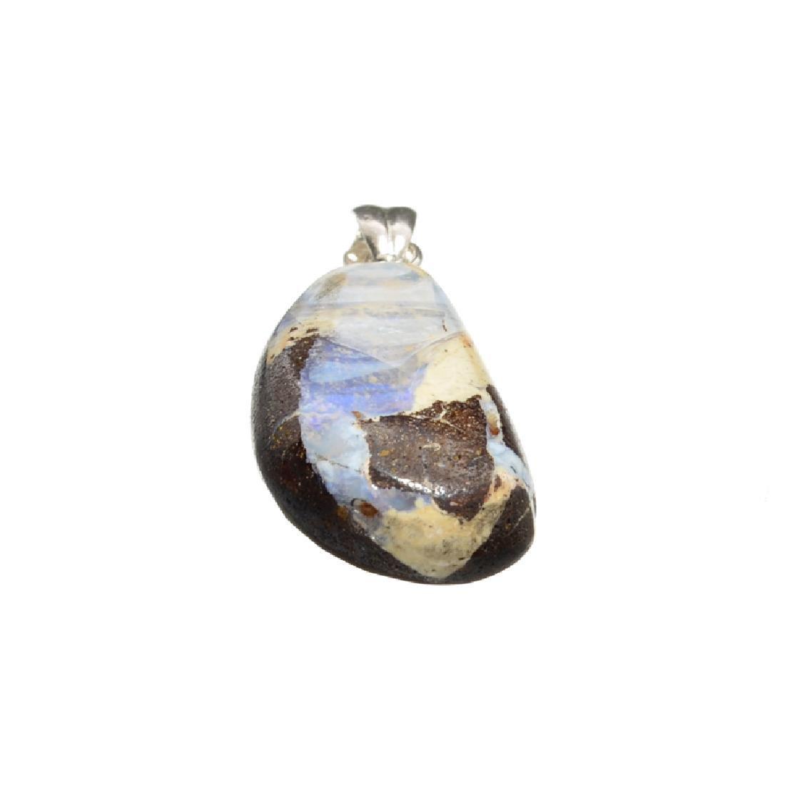 13.95CT Boulder Opal Sterling Silver Pendant