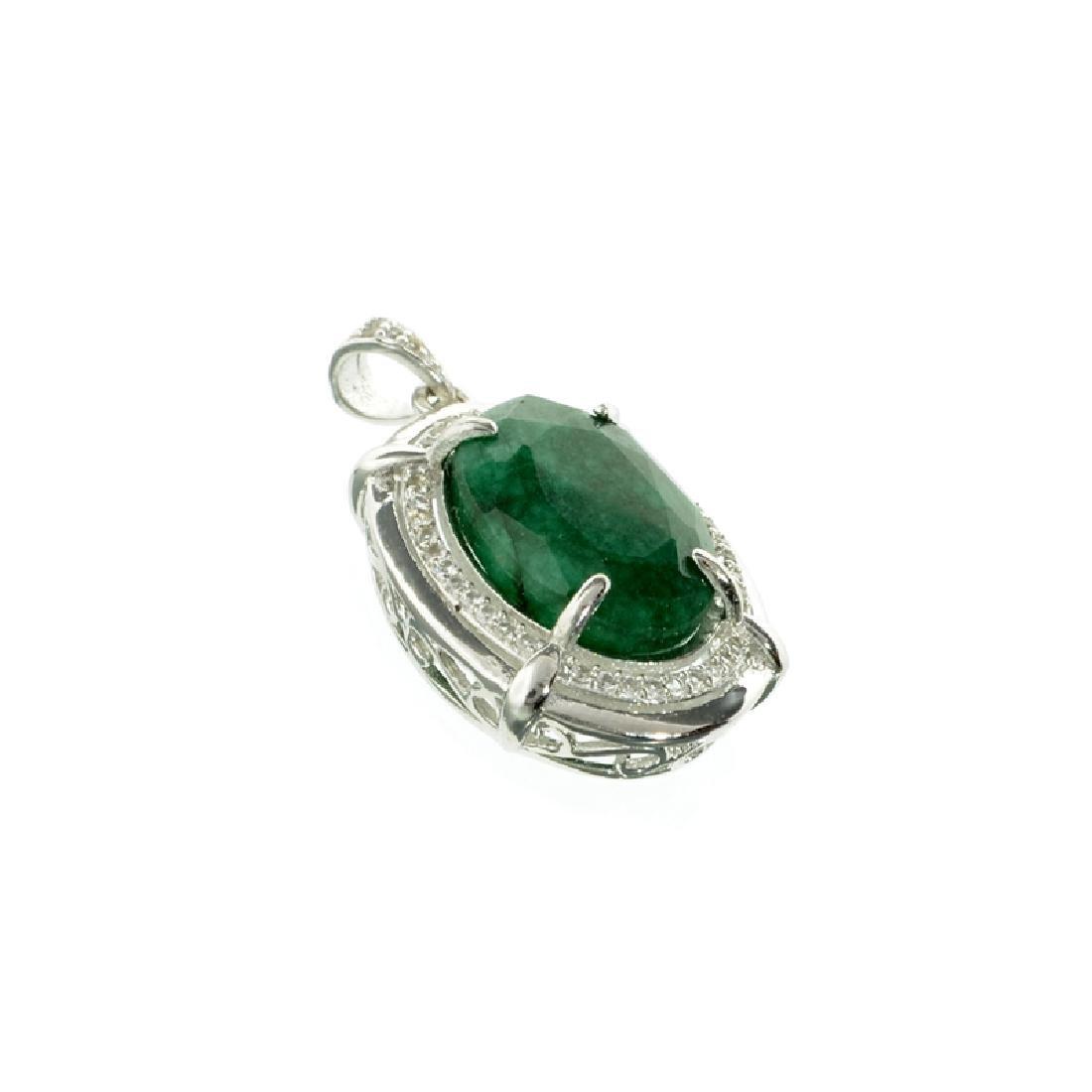 APP: 0.6k Fine Jewelry 5.70CT Oval Cut Green Beryl And