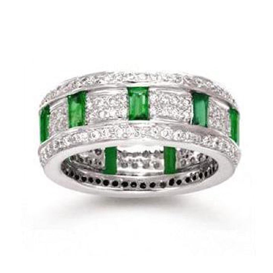 *Fine Jewelry, 14KT White Gold, 0.90CT Emerald And