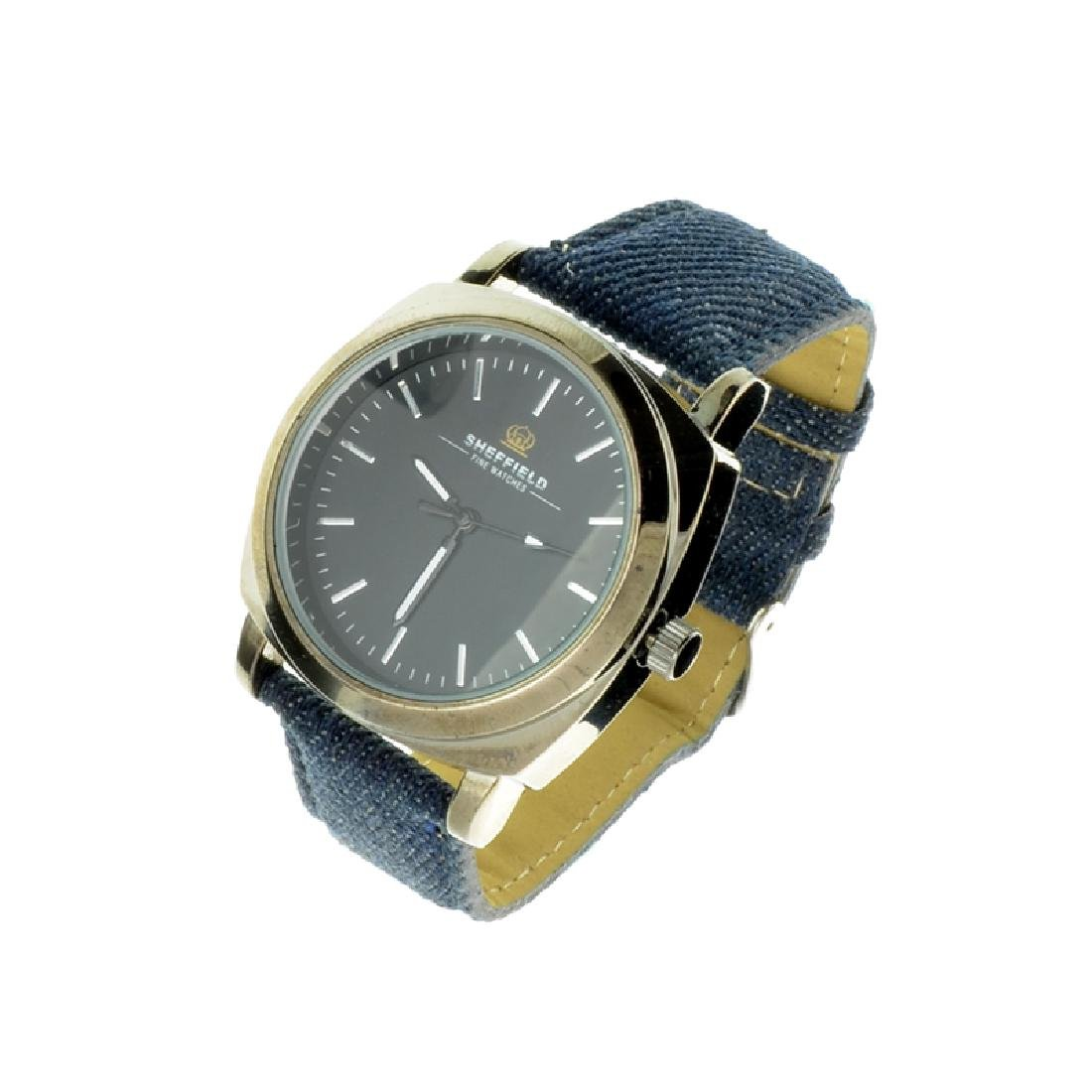 Sheffield With Blue Leather Band Watch