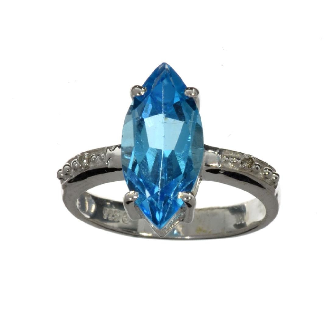 APP: 0.8k Fine Jewelry 3.26CT Blue And Colorless Topaz