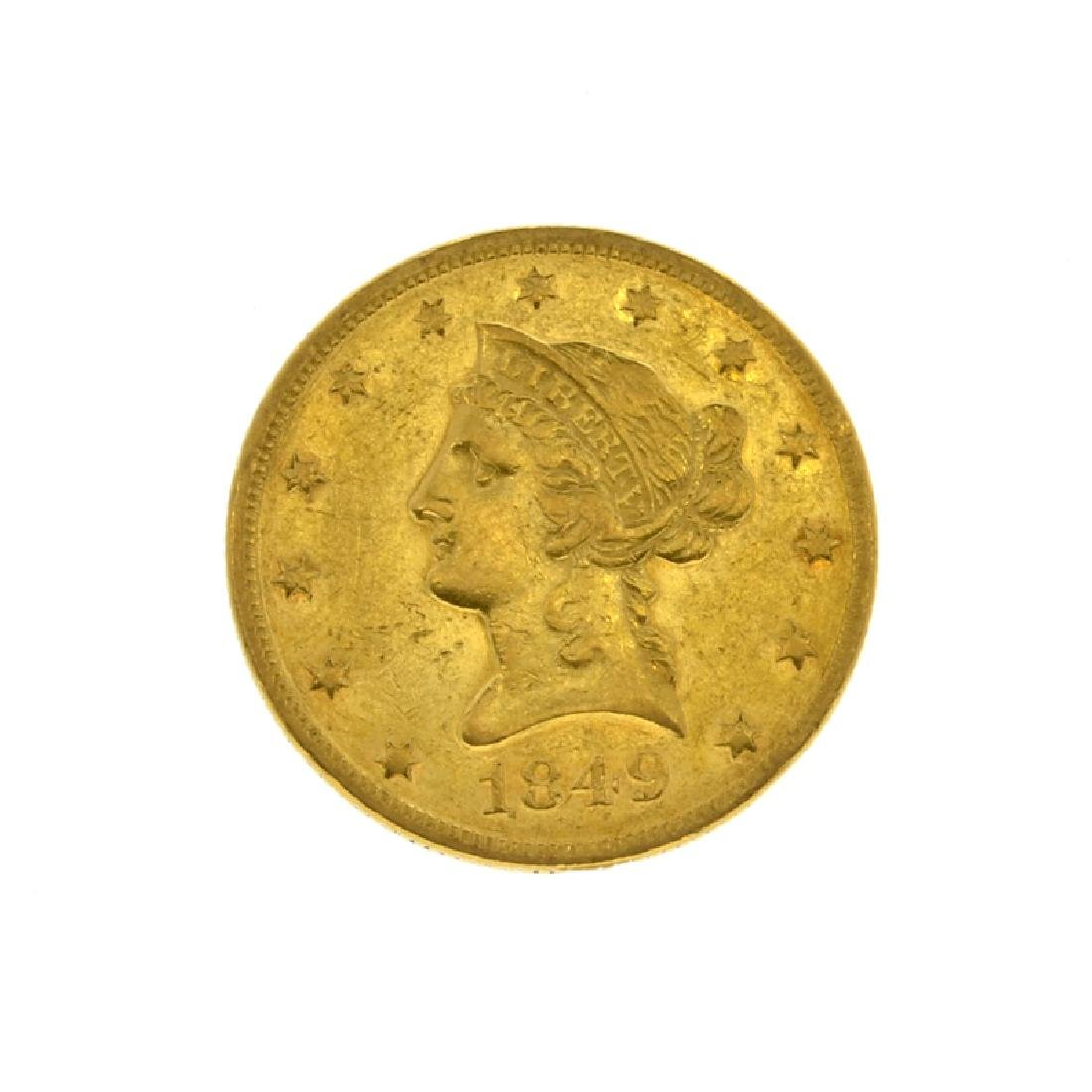 1849 $10 U.S. Liberty Head Gold Coin