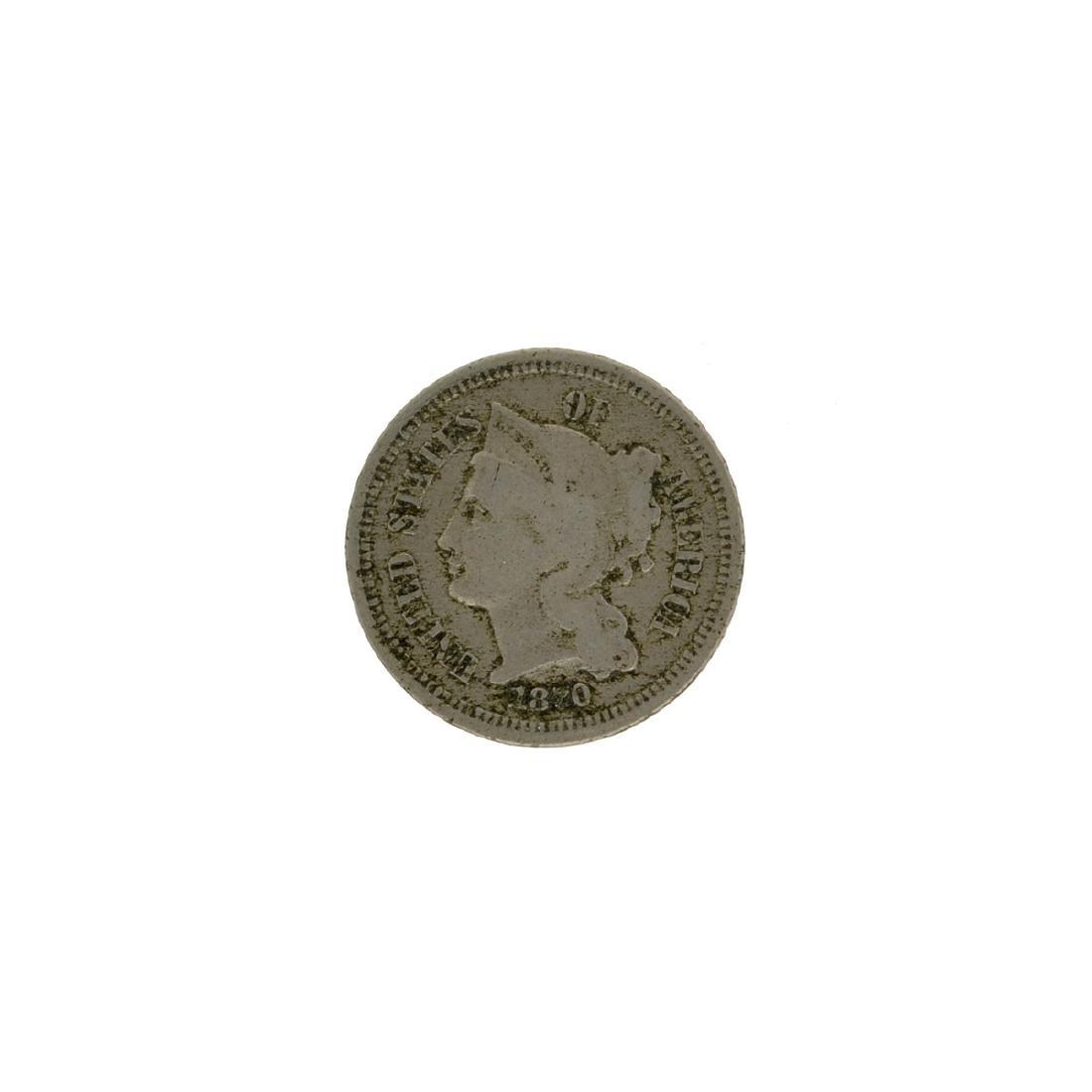 1870 Three Cent Coin